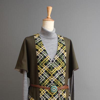 紬袴ロング・ジレ Tumugi-hakama sleeveless coat