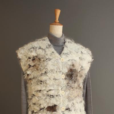 マタギ・ベスト Wool staple vest