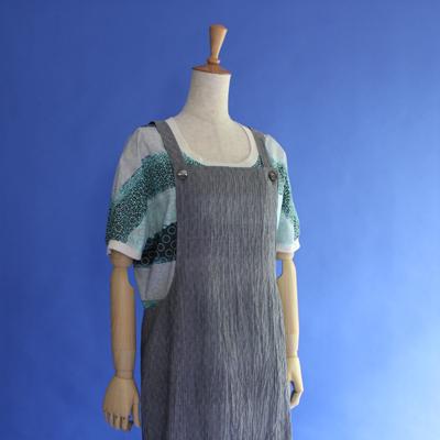 小千谷ちぢみエプロン・ドレス Odiya-chidimi apron dress